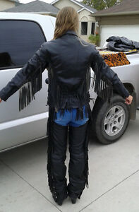 HD Style LEATHER JACKET AND CHAPS Kodiak & Naturalizer Boots