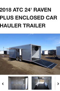 2018 ATC Raven enclosed car trailer hauler