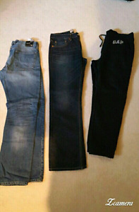 Men's jeans, pants, shirt and winter boots. Gap, Levis. New!!