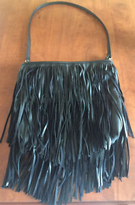 **BLACK FRINGE PURSE FOR SALE**