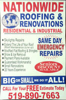 Emergency REPAIRS FIXED SAME DAY SERVICE 519 -890- ROOF ( 7663 )