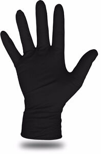Tactical Plus Black Nitrile Disposable Gloves - 5 Mil