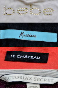 Lot of Women's Clothes from Bebe Marciano Le Chateau Stores