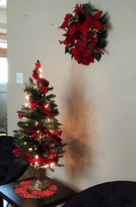 Christmas Decor, Artificial Christmas Tree, Christmas lights