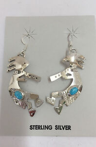 Brand New 925 sterling silver kokopelli earrings