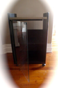 VINTAGE SONY STEREO CABINET with GLASS DOOR