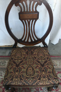 Elegant Antique 4 Chairs Set, refurbished