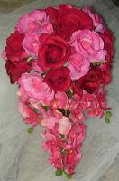 Beautiful Cascading Wedding Bouquet Flower Set.