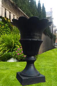 Antique CAST IRON URNS - Variety Outdoor Garden Planters