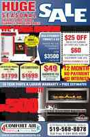 Furnace and Fireplace Installation, Replace, Repair & Service