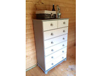 Large Chest of Drawers with Pair of Matching Bed side Chests