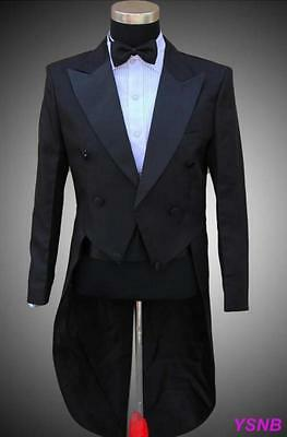 Mens Trendy Jackets Tail Coats Party SUIT&PANTS Formal Wedding Tuxedo
