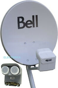 "COMPLETE 20"" BELL SATELLITE DISH WITH DP TWIN LNB'S FULL HD"