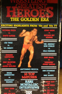 WWE WWF wrestling VHS video tapes