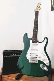 Aria STG Electric Guitar & Amplifier + Accessories