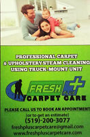 FRESH & CLEAN CARPETS/UPHOLSTERY-LONDON AREA