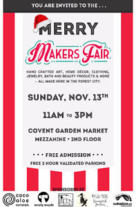 Merry Makers Fair - A Local, Handmade Event London Ontario image 1