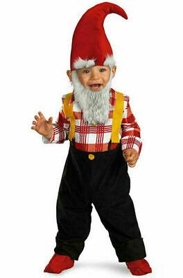 Cute Garden Gnome Toddler Child Costume Halloween Jumpsuit 2T NEW](Baby Garden Gnome Halloween Costume)