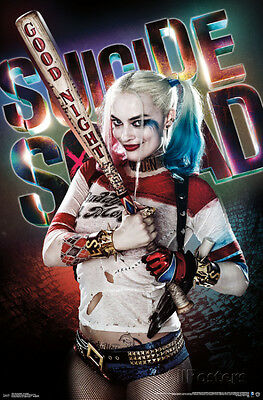 Suicide Squad Movie Harley Quinn Good Night Baseball Bat Poster 22x34 DC Comics