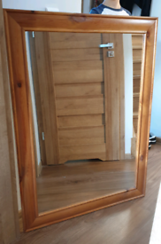 Wooden mirror 87cm × 117cm