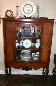 Canadian Made Antique Sideboard and China Cabinet