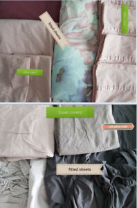 Various Used Queen size beddings