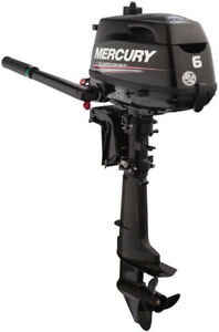 Mercury Boat Motor  (New 6 hp)  Reduced Price Even More
