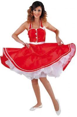50er Jahre Kleid Kostüm Rock n Roll Petticoat Damen Disco Rockabilly Polka - Disco Tanzen Kostüm