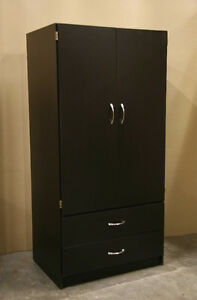 New Espresso Brown Wardrobe Closet Armoire