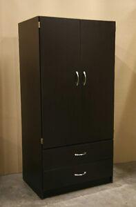 New Espresso Brown Wardrobe Closet Armoire