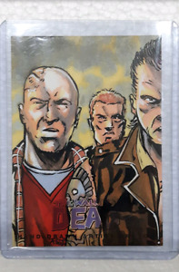 The walking dead comic trading card