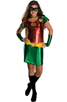 Brand New Batman Robin Girl Superhero Tween Child Costume