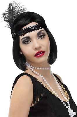 Flapper Headband Necklace Cigarette Costume - Flapper Kostüm Kit