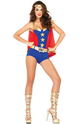 Superhero Comic Book Girl Dress Up Outfit Adult - Comic Book Girl Kostüm