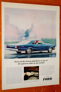 1966 FORD GALAXIE XL COUPE VINTAGE AD - RETRO PUB ANONCE
