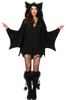 Brand New Cozy Bat Cave Animal Women Fleece Outfit Adult Costume - Cave Women Costumes