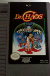 NES Dr Chaos and Tetris original Carrtidges