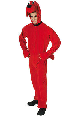 Clifford Big Red Dog Halloween Costumes (Brand New Big Red Dog Deluxe Clifford Adult)