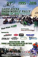 Laird Arena Snowmobile Rally Feb 13, 2016