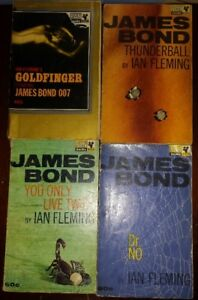 IAN FLEMING JAMES BOND 14 PAPERBACK  BOOKS RARE LOT.