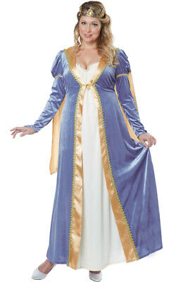 Brand New Elegant Royal Empress Renaissance Queen Dress Plus Size Costume](Plus Size Renaissance Dress)