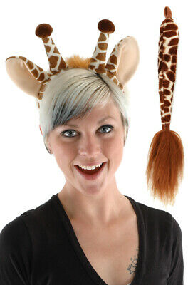 Animal Giraffe Ears and Tail Accessory - Animal Ears And Tail