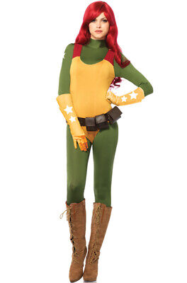 Gi Joe Costume (Official License Women GI Joe Scarlett Spandex umpsuit Adult)