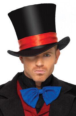 Magician Circus Ringleader Deluxe Velvet Top Hat Costume Accessory