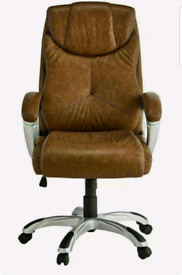 Brand new x-rocker brown executive office chair with sound