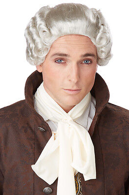 18th Century Peruke Colonial British Judge Halloween Costume Wig - Blone or Grey