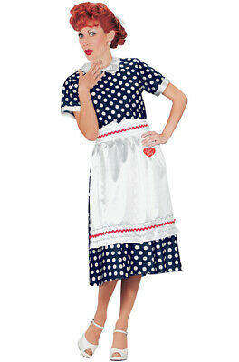 Brand New I Love Lucy Polka Dot Dress Lucille Ball Adult Halloween Costume