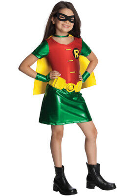Brand New Batman Superhero Robin Girl Child Costume