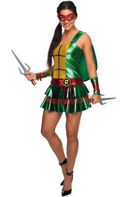 Brand New Ninja Turtles Raphael Dress Women Adult Costume (Ninja Turtles Women Costumes)