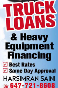 TRUCK AND HEAVY EQUIPMENT LOANS BAD CREDIT NO PROBLEM